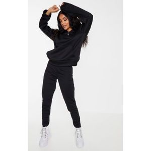 Black Basic Fleece Joggers